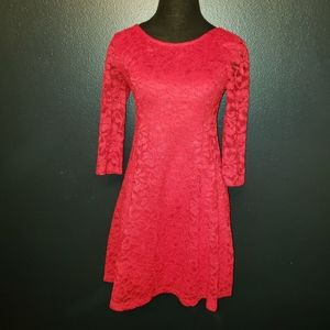 Lush lace dress with 3/4 sleeves